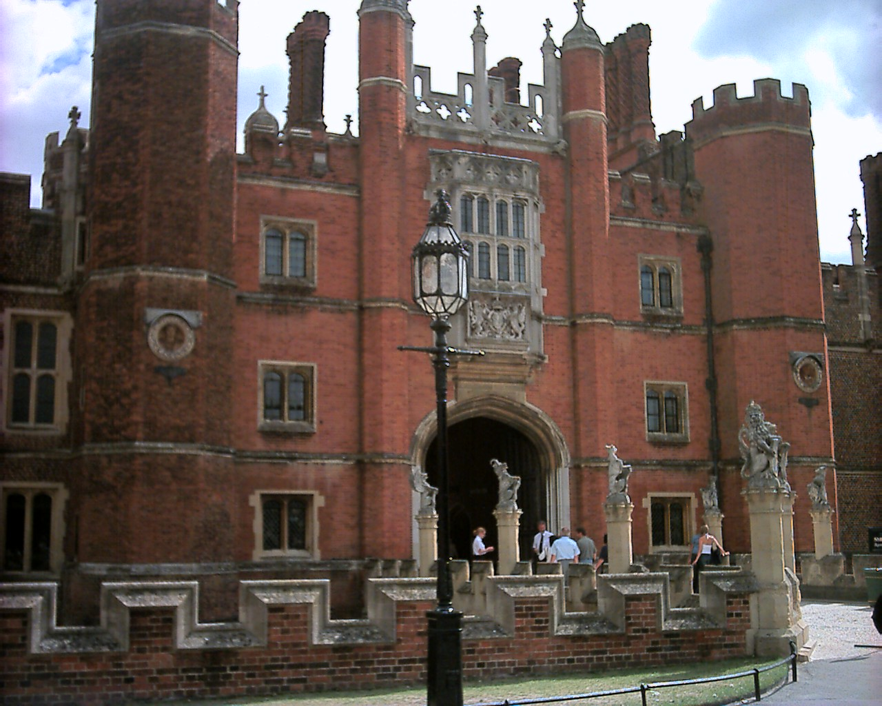Hampton Court Palace entrance. Copyright MG Mason 2005 approx